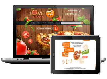 Шаблон сайта для пиццерии